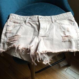 Lucky brand frayed shorts